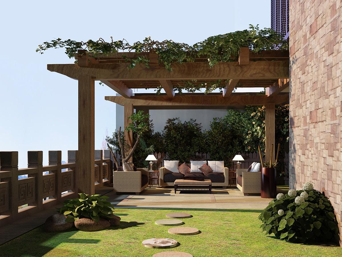 别墅庭院外花园装修案例