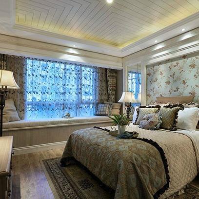 豪宅设计 | 田园风格卧室墙面颜色搭配